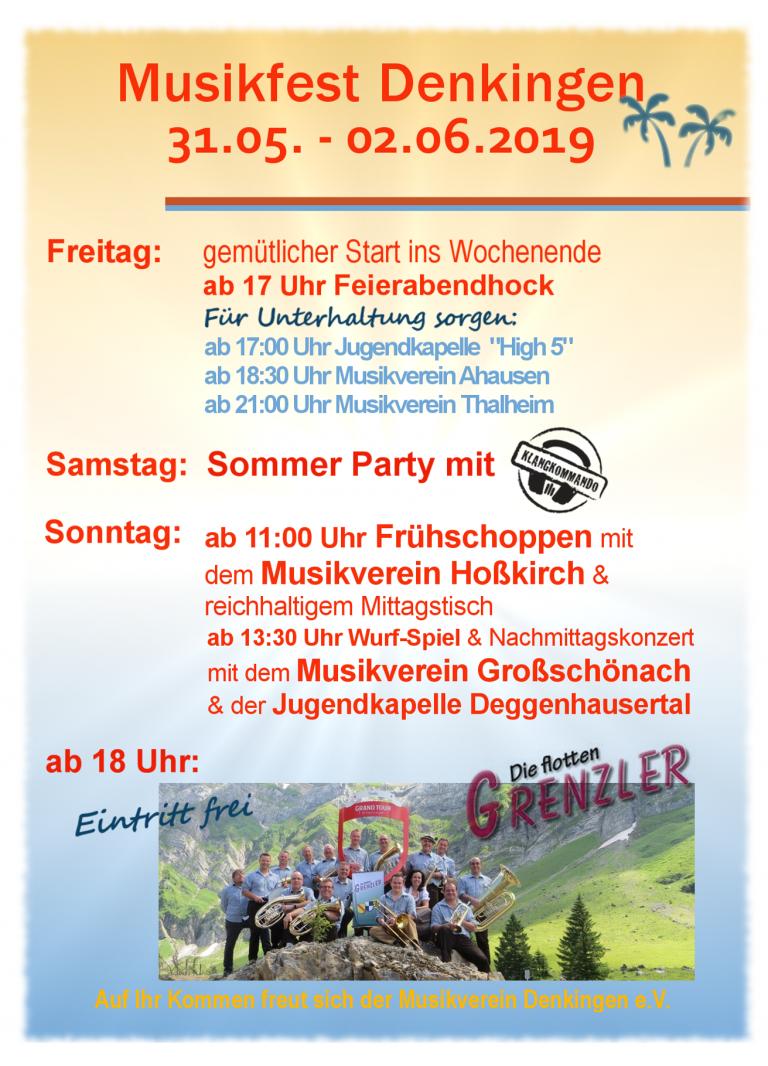 Sommerfest 2019 Flyer