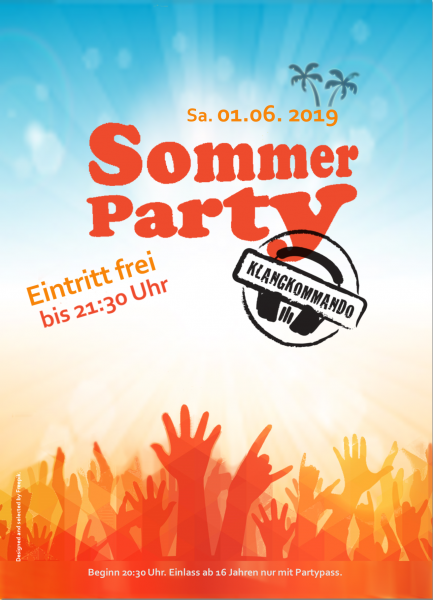Sommer Party 2019 Flyer