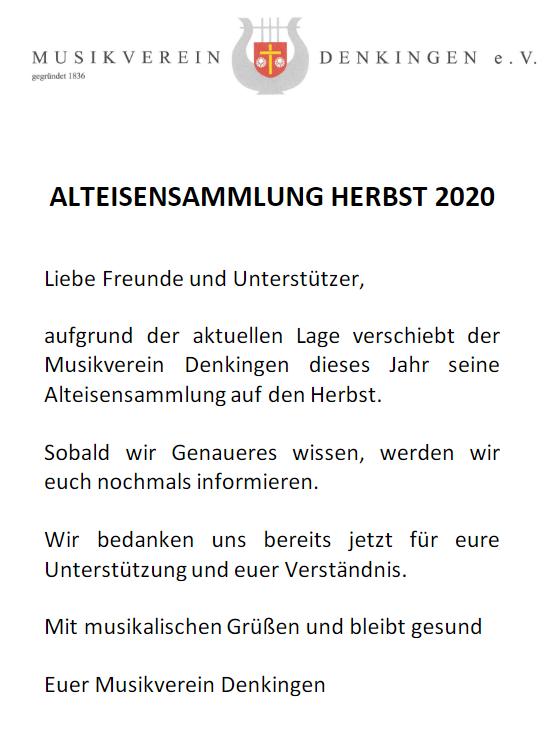 Alteisensammlung Herbst 2020