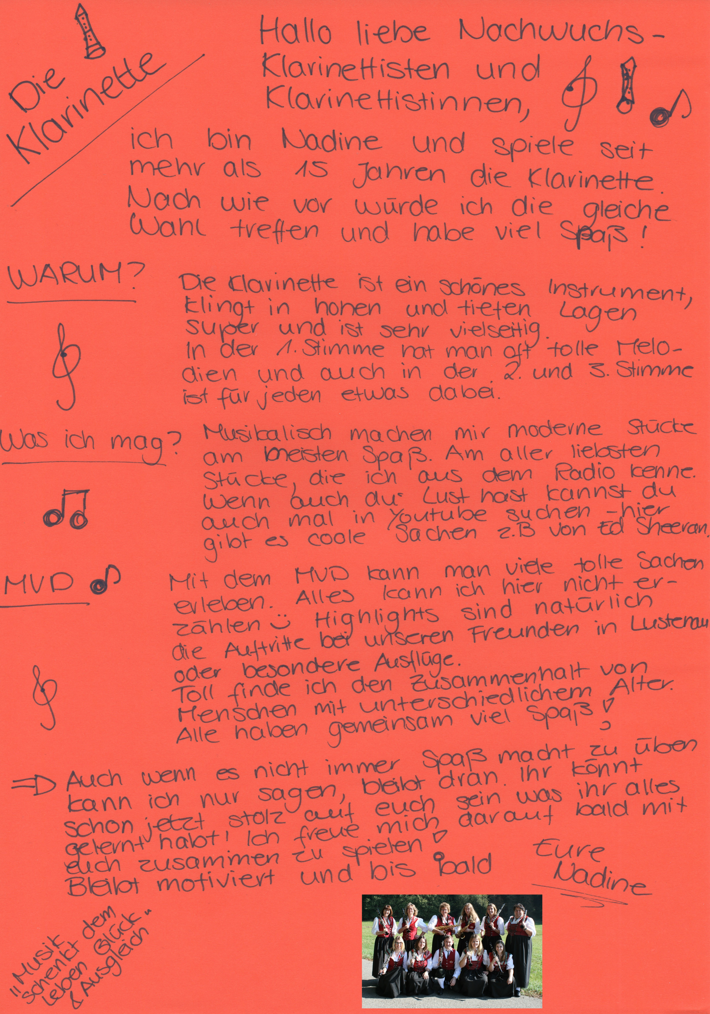 Brief an den Klarinettennachwuchs
